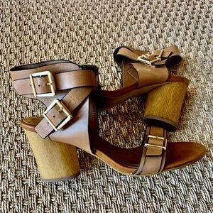 Isola Women's Brown Lissandra II Block Heel Sandal